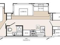 2012 Puma Trip trailer, 30 foot Rear queen size bedroom