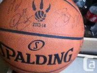 2013-14 autographed Toronto Raptors ball. I won this