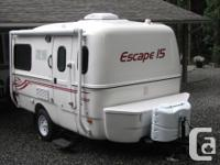 Fresh Escape 15B travel trailer, possesses all the