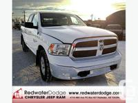 2013 White Dodge Ram 1500 SLT. Very Low KM's, Less than