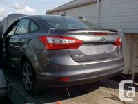 2013 ford focus 4dr sedan for parts. 19kms 5 spd.Mags