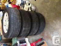 """set of 4 , in great condition, 18"""" wheels off 2013"""