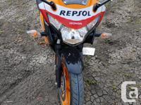 Make Honda Model Cbr Year 2013 kms 500 I have a Repsol