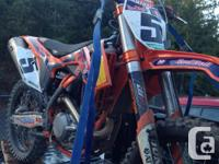 Selling my 2013 KTM 450 SXF along with a RIOT carbon