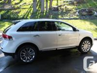 Make Lincoln Model MKX Year 2013 Colour WHITE kms