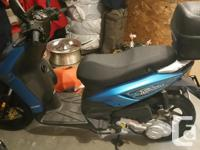 2013 Piaggio Typhoon 50cc Scooter. color blue, mint