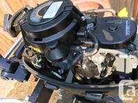 2013 Suzuki outboard 9.9 short shaft, manual start