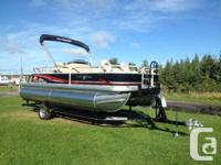 We have One 2014 Pontoon left on our lot. It is a