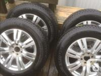 Traded my car. Have 4 Cadillac SRX wheels with Michelin