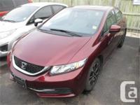 Make Honda Model Civic Year 2014 Colour Red kms 8255