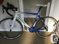 56 inch ridley damocles carbon fibre road bike .