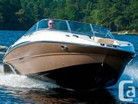 235 Stingray LR Bowrider  The wide, sport deck design