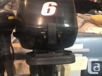 2014 Suzuki 6HP 4 Stroke Portable with very low hours.