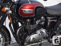 kms 18592 2014 Triumph Bonneville T100 865cc 5 speed 2