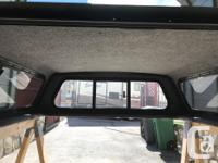 Canopy with tinted glass, front slider window ,side