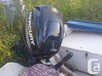 2015 25 hp Mercury 4 stroke outboard. Like new,low