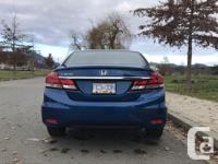 Make Honda Model Civic Sedan Year 2015 Colour Blue kms