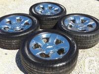 Chrome OEM Chevrolet Silverado wheels Goodyear Eagle