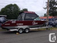 This boat is fully equipt to fish. This boat is equipt