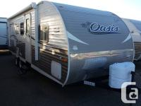 The Shasta Oasis 26DB is a high-value double over