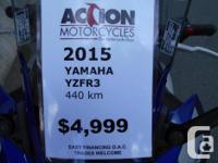 2015 Yamaha R3 -Stock Everything -Low kms 440 km