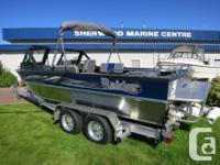 This 2016 20' River Raider comes powered by a Kodiak