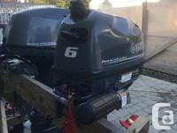 2016 4 stroke Yamaha outboard with internal tank and for sale  British Columbia