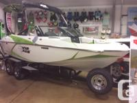 This boat landing in dealership in Late October.The