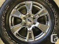 Wheels are OEM bolt on assemblies including 27565R18