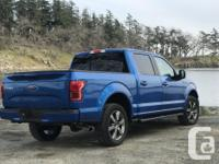 Make Ford Model F-150 SuperCrew Year 2016 Colour Blue