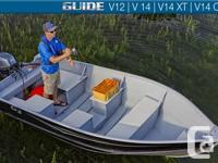 Guide V series, sold as �boat only�, these wide, stable