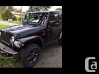 Make Jeep Model Wrangler Year 2016 Colour Black kms