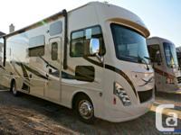Beautiful light maple interior brightens up the coach,
