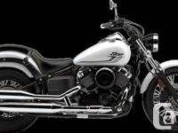 The V-Star 650 Custom features lots of chrome, luminous