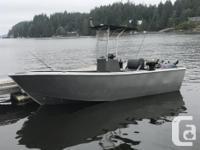 This 18 Foot Custom Walker Aluminum Fishing boat is