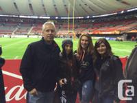 BC lions premium club seats for sale for various home