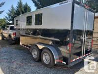 2017 Charmac aluminum horse trailer. Fully bedlined