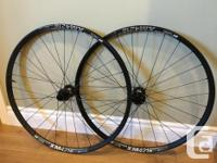 Used set of 29er wheels with DT Swiss XM 421 rims and