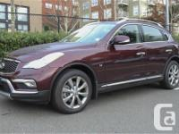 Make Infiniti Model QX50 Year 2017 Colour Maroon kms