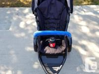 This all-terrain inline double stroller was bought last