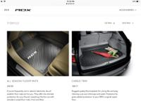 All weather mats/cargo tray $150 Cargo cover $150