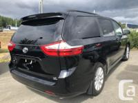 Make Toyota Model Sienna Year 2017 Colour black kms