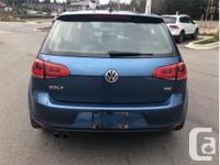 Make Volkswagen Model Golf Year 2017 Colour Blue kms