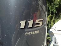 2017 Yamaha 115 four stroke for sale LESS THAN 10