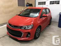 Make Chevrolet Model Sonic Year 2018 Colour red kms