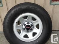 "2018 GMC 1500 17"" take off rims and tires, including"