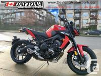 2018 Yamaha MT-09 ABS Sport Motorcycle * Powered by an