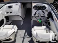 This Intense Blue 18' Allante 545i Bowrider cruses