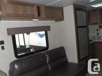 Nice modern looking travel trailer with a spacious
