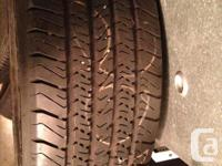 A set of 2 winter tires for sale in good condition.